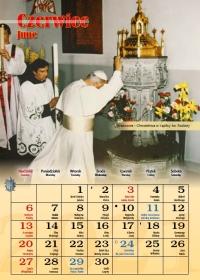 Śladami Jana Pawła II, czerwiec - kalendarz