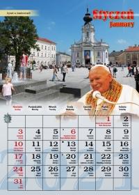 Śladami Jana Pawła II, styczeń - kalendarz