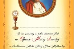 Dyplom pierwszej komunii świętej