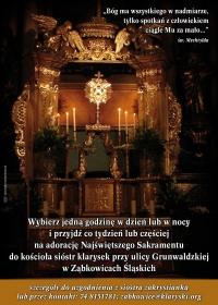 Ząbkowice Śl Siostry Klaryski Plakat A3 - 1 Adoracja