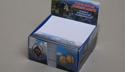 Pudełko firmowe z karteczkami Zakopane