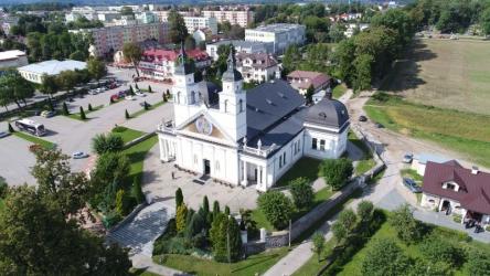 Sokółka. Widok na Kościół św. Antoniego Padewskiego